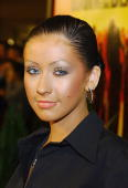 Singer Christina Aguilera attends the premiere of the Universal Pictures' film 'Dawn Of The Dead' on March 10 2004 at the Cineplex Beverly Theatres...