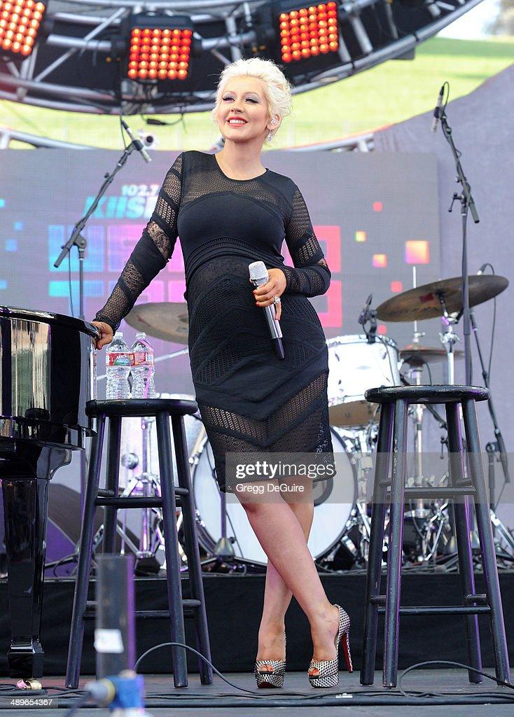 Singer Christina Aguilera performs at 102.7 KIIS FM's 2014 Wango Tango at StubHub Center on May 10, 2014 in Los Angeles, California.
