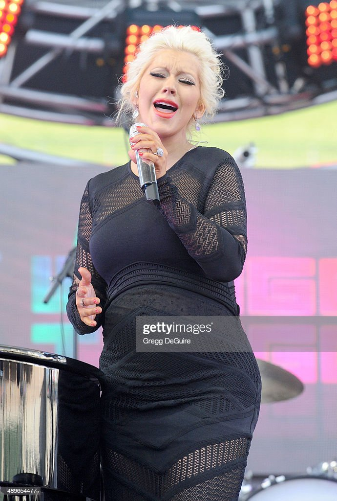 Singer <a gi-track='captionPersonalityLinkClicked' href=/galleries/search?phrase=Christina+Aguilera&family=editorial&specificpeople=171272 ng-click='$event.stopPropagation()'>Christina Aguilera</a> performs at 102.7 KIIS FM's 2014 Wango Tango at StubHub Center on May 10, 2014 in Los Angeles, California.
