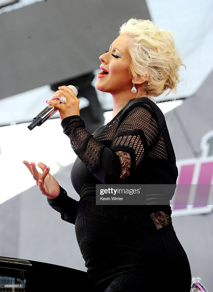 Singer Christina Aguilera performs onstage during 102.7 KIIS FM's 2014 Wango Tango at StubHub Center on May 10, 2014 in Los Angeles, California.
