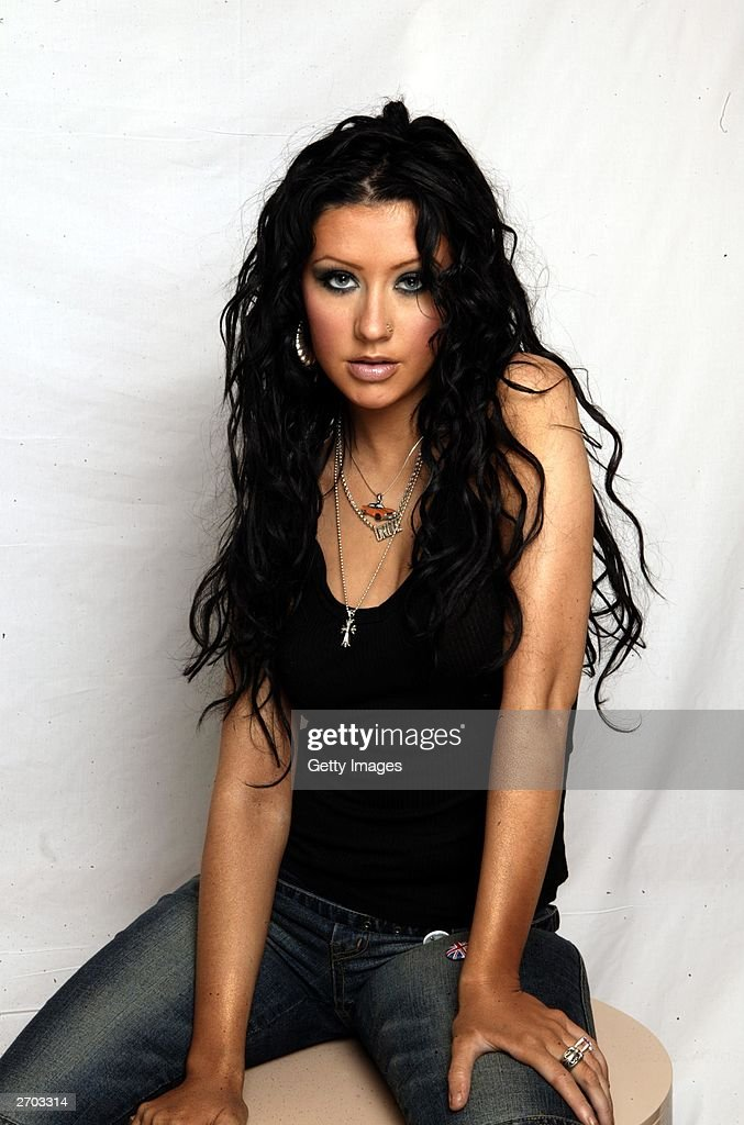 Singer Christina Aguilera poses at the Art's Hotel on October 21 2003 in Barcelona Christina is to host the 10th MTV Europe Music Awards 2003 in...