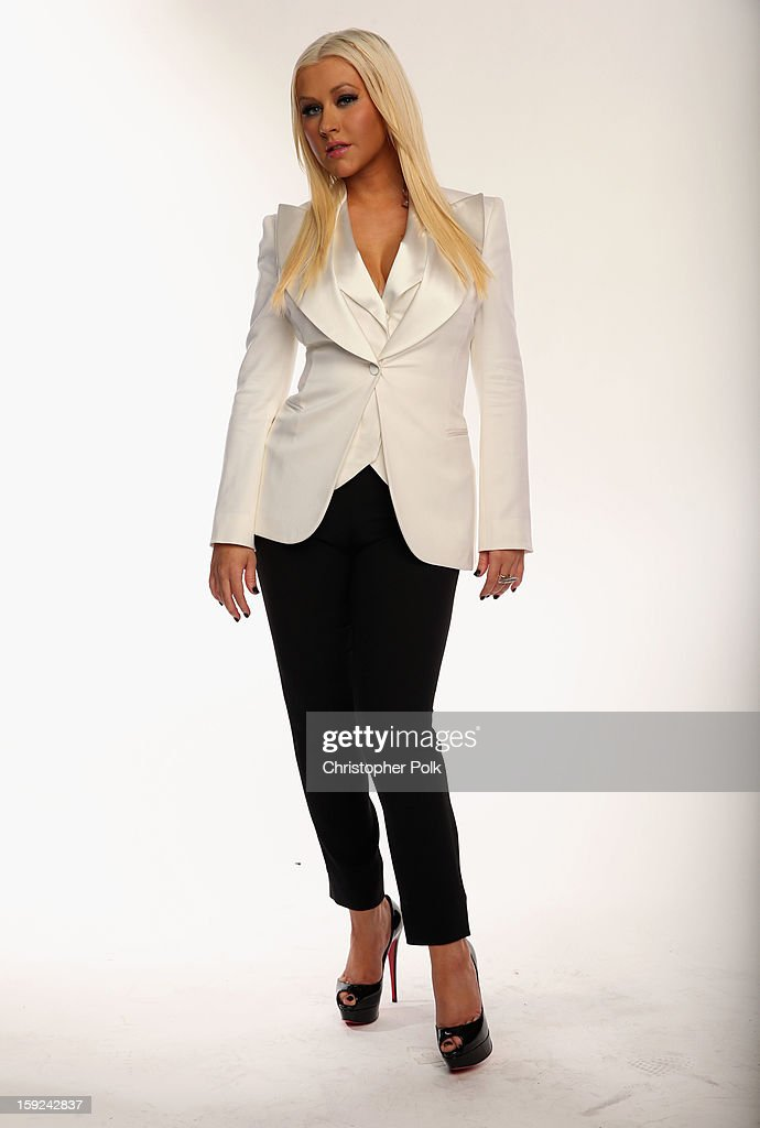 Singer <a gi-track='captionPersonalityLinkClicked' href=/galleries/search?phrase=Christina+Aguilera&family=editorial&specificpeople=171272 ng-click='$event.stopPropagation()'>Christina Aguilera</a> poses for a portrait during the 39th Annual People's Choice Awards at Nokia Theatre L.A. Live on January 9, 2013 in Los Angeles, California.