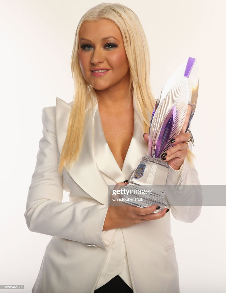 Singer Christina Aguilera poses for a portrait during the 39th Annual People's Choice Awards at Nokia Theatre L.A. Live on January 9, 2013 in Los Angeles, California.