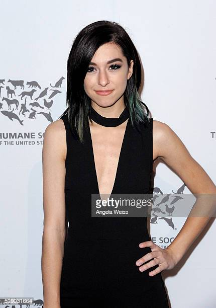 Singer Christina Grimmie attends The Humane Society of the United States' to the Rescue Gala at Paramount Studios on May 7 2016 in Hollywood...