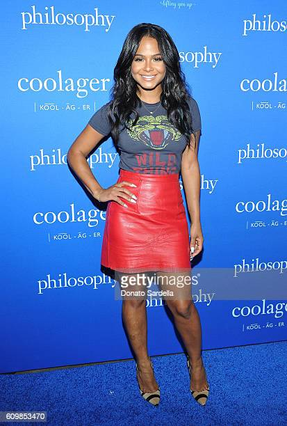 Singer Christina Milian attends The Age of Cool hosted by Philosophy and Ellen Pompeo at Quixote on September 22 2016 in West Hollywood California