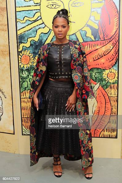 Singer Christina Milian attends the Alice Olivia By Stacey Bendet fashion show during New York Fashion Week September 2016 at The Gallery Skylight at...