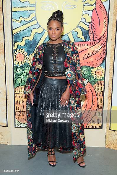 Singer Christina Milian attends the Alice Olivia by Stacey Bendet presentation during September 2016 New York Fashion Week The Shows at The Gallery...