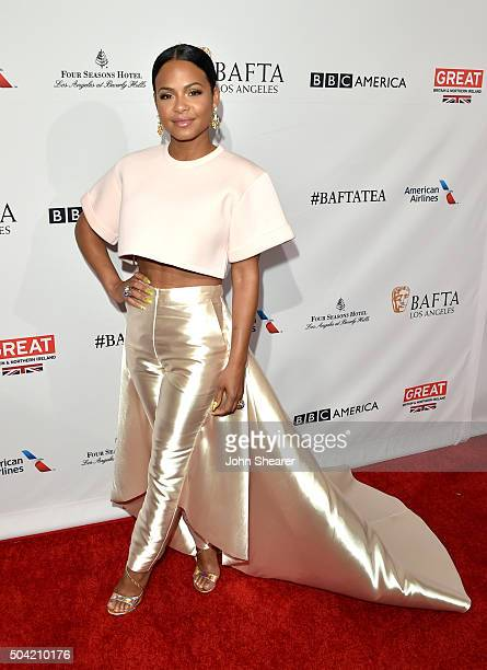 Singer Christina Milian attends the BAFTA Awards Season Tea Party at Four Seasons Hotel Los Angeles at Beverly Hills on January 9 2016 in Los Angeles...