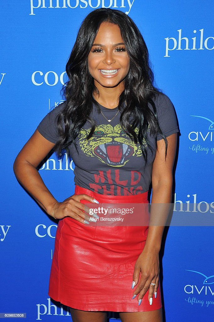 Singer Christina Milian attends the 'Welcome to the Age of Cool' event hosted by Philosophy and Ellen Pompeo on September 22, 2016 in West Hollywood, California.