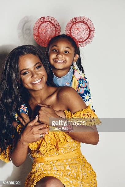 Singer Christina Milian is photographed with her daughter Violet for Posh Kids magazine on March 28 2017 in Los Angeles California