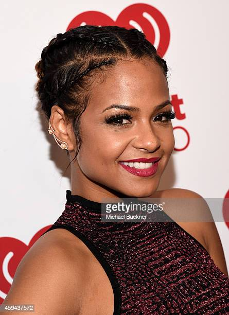 Singer Christina Milian poses backstage during theiHeartRadio Fiesta Latina festival presented by Sprint at The Forum on November 22 2014 in...