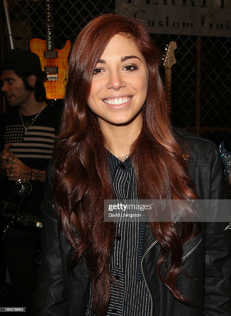 Singer Christina Perri attends the 2013 NAMM Show - Day 2 at the Anaheim Convention Center on January 25, 2013 in Anaheim, California.