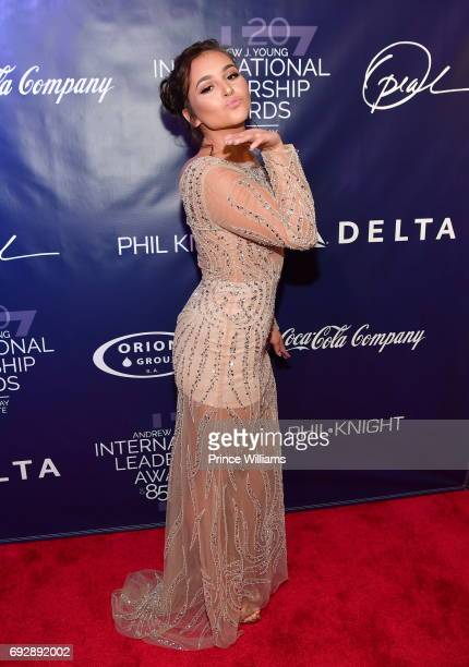 Singer Christina Quinones attends the 2017 Andrew Young International Leadership awards and 85th Birthday tribute at Philips Arena on June 3 2017 in...