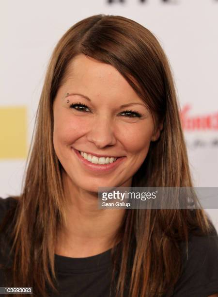 Singer Christina Stuermer attends The Dome 55 on August 27 2010 in Hannover Germany