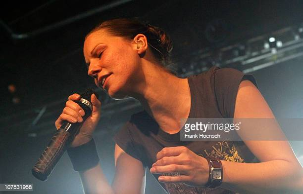 Singer Christina Stuermer performs live during a concert at the Postbahnhof on December 11 2010 in Berlin Germany