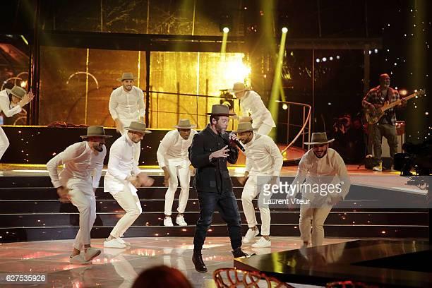 Singer Christophe Mae attends 30th Telethon at Hippodrome de Longchamp on December 3 2016 in Paris France