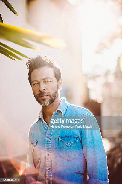 Singer Christophe Mae is photographed for Paris Match on April 29 2016 in AixenProvence France
