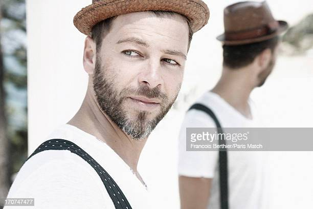 Singer Christophe Mae is photographed for Paris Match on June 2 2013 in Arcachon France