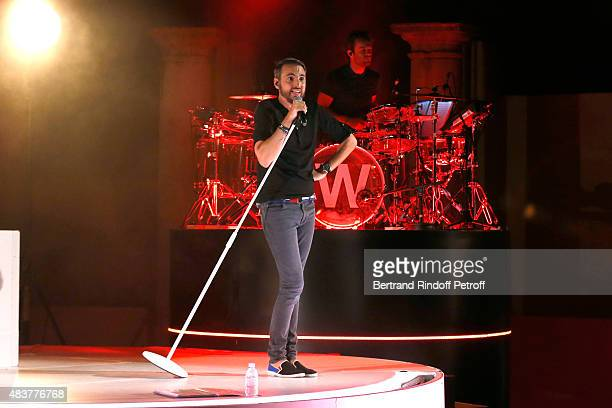 Singer Christophe Willem performs during his Christophe Willem Show during the final day of the 31th Ramatuelle Festival on August 12 2015 in...
