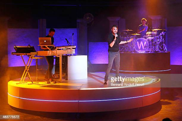 Singer Christophe Willem performs in his Christophe Willem Show during the 31th Ramatuelle Festival Day 12 and last day on August 12 2015 in...