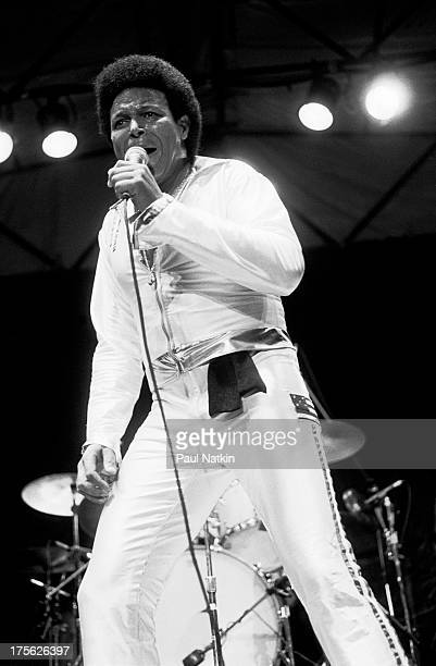 Singer Chubby Checker performing Chicago Illinois June 1 1981
