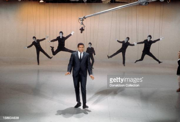 Singer Chubby Checker performs on the NBC TV music show 'Hullabaloo' in April 1965 in New York City New York