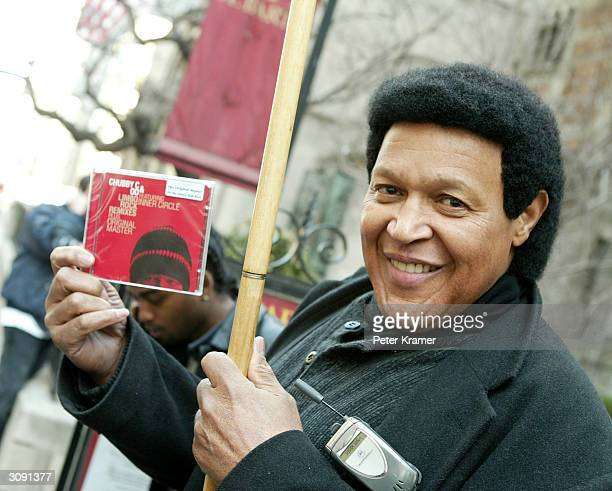 Singer Chubby Checker protests the lack of air time he is recieving on radio stations and musical recognition outside The Waldorf Astoria March 15...