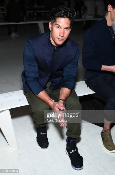Singer Chyno Miranda attends the EFM Engineered For Motion Spring/Summer 2018 Runway Show at Skylight Clarkson Square on July 12 2017 in New York City