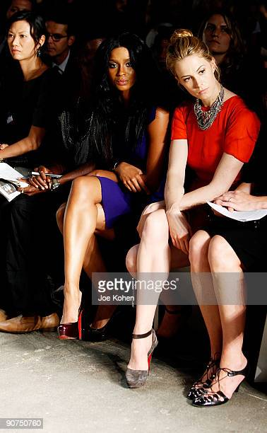 Singer Ciara and model Elettra Rossellini Wiedemann attend Thakoon Spring 2010 during MercedesBenz Fashion Week at Eyebeam on September 14 2009 in...