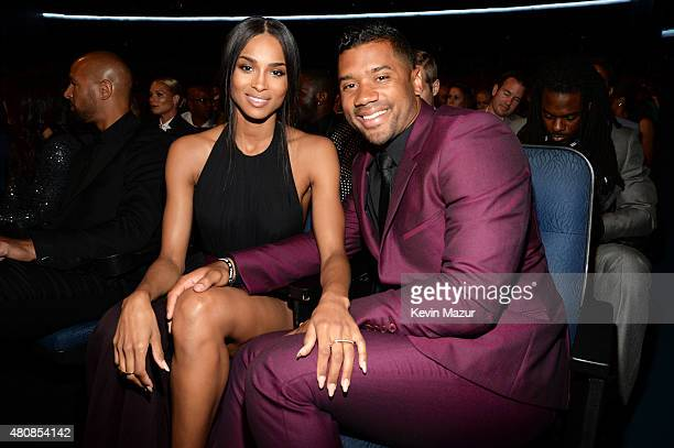 Singer Ciara and NFL player Russell Wilson attend The 2015 ESPYS at Microsoft Theater on July 15 2015 in Los Angeles California