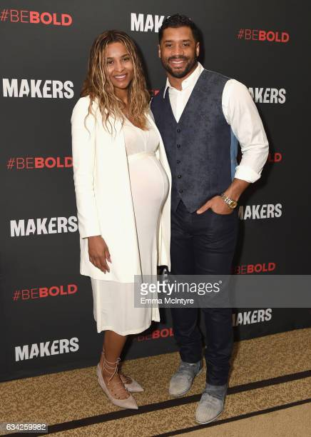 Singer Ciara and NFL player Russell Wilson attend The 2017 MAKERS Conference Day 3 at Terranea Resort on February 8 2017 in Rancho Palos Verdes...