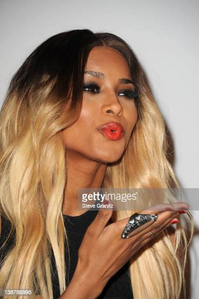 Singer Ciara arrives at Clive Davis and The Recording Academy's 2012 PreGRAMMY Gala and Salute to Industry Icons Honoring Richard Branson at The...