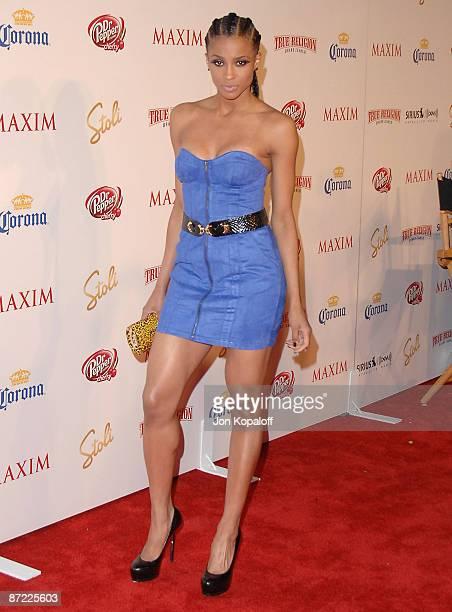 Singer Ciara arrives at Maxim's 2009 Hot 100 Party at Barker Hangar on May 13 2009 in Santa Monica California