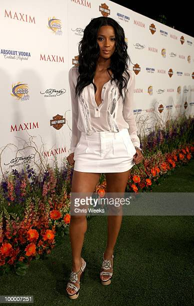 Singer Ciara arrives at the 11th annual Maxim Hot 100 Party with HarleyDavidson ABSOLUT VODKA Ed Hardy Fragrances and ROGAINE held at Paramount...