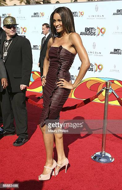 Singer Ciara arrives at the 2009 BET Awards at the Shrine Auditorium on June 28 2009 in Los Angeles California