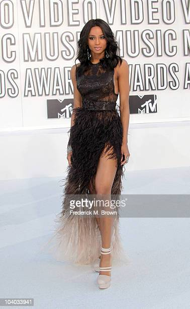 Singer Ciara arrives at the 2010 MTV Video Music Awards at NOKIA Theatre LA LIVE on September 12 2010 in Los Angeles California