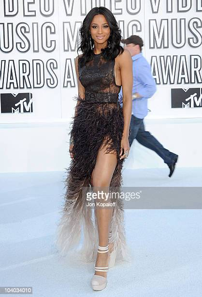 Singer Ciara arrives at the 2010 MTV Video Music Awards held at Nokia Theatre LA Live on September 12 2010 in Los Angeles California
