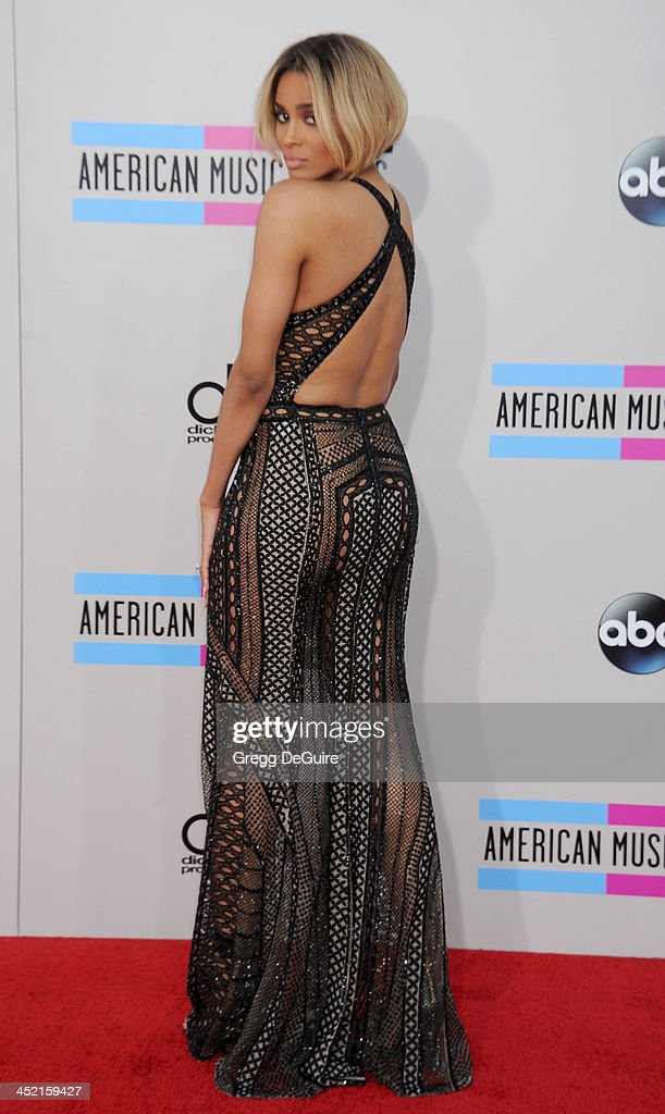 Singer Ciara arrives at the 2013 American Music Awards at Nokia Theatre L.A. Live on November 24, 2013 in Los Angeles, California.