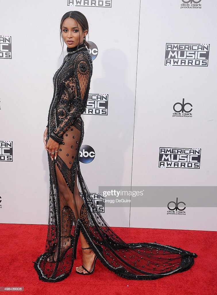 Singer Ciara arrives at the 2015 American Music Awards at Microsoft Theater on November 22, 2015 in Los Angeles, California.