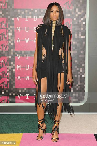 Singer Ciara arrives at the 2015 MTV Video Music Awards at Microsoft Theater on August 30 2015 in Los Angeles California