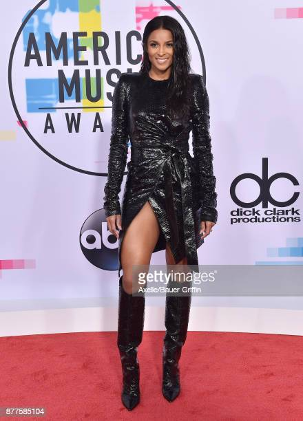 Singer Ciara arrives at the 2017 American Music Awards at Microsoft Theater on November 19 2017 in Los Angeles California