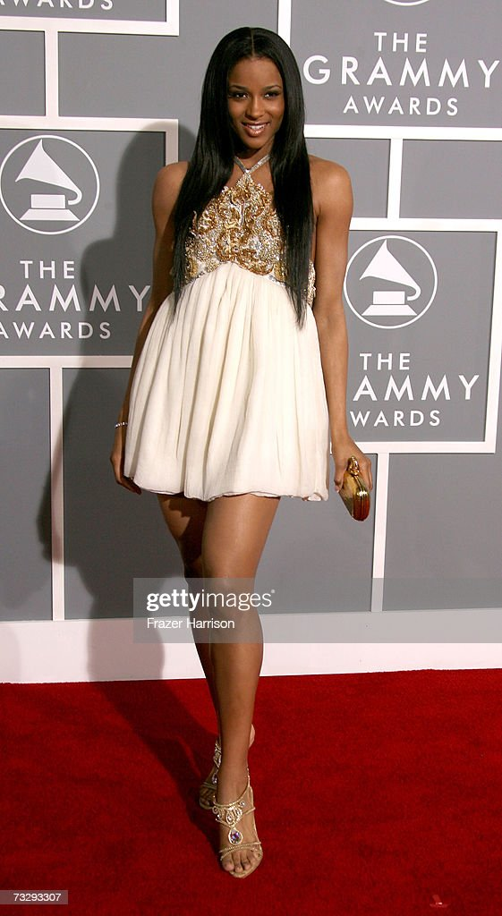 Singer Ciara arrives at the 49th Annual Grammy Awards at the Staples Center on February 11 2007 in Los Angeles California