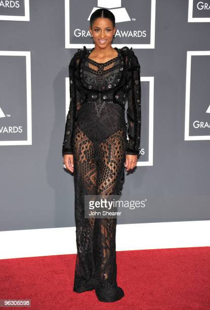 Singer Ciara arrives at the 52nd Annual GRAMMY Awards held at Staples Center on January 31 2010 in Los Angeles California