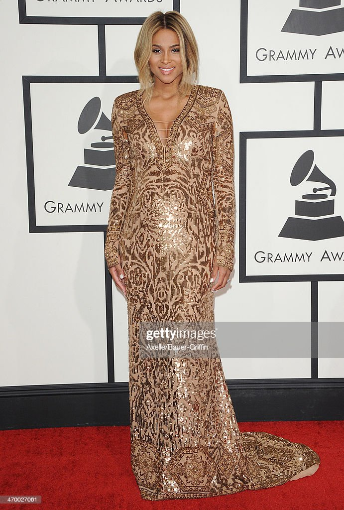 Singer Ciara arrives at the 56th GRAMMY Awards at Staples Center on January 26, 2014 in Los Angeles, California.