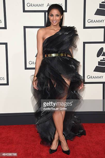 Singer Ciara arrives at the 57th Annual GRAMMY Awards at Staples Center on February 8 2015 in Los Angeles California