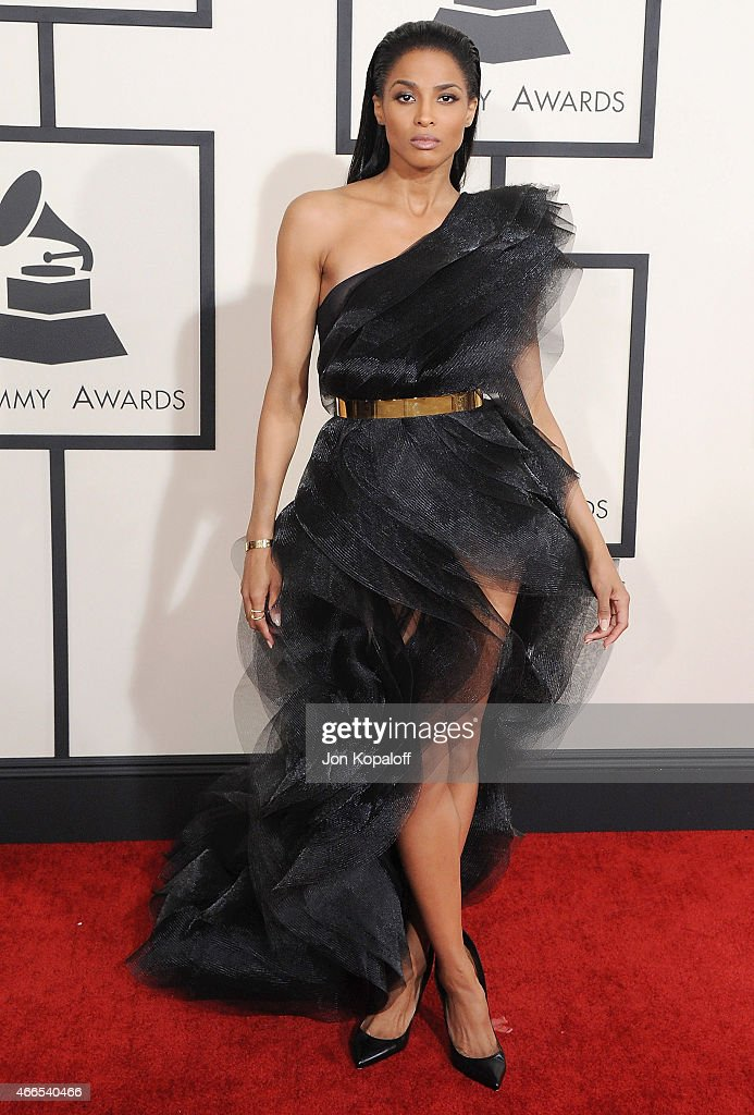 Singer Ciara arrives at the 57th GRAMMY Awards at Staples Center on February 8 2015 in Los Angeles California