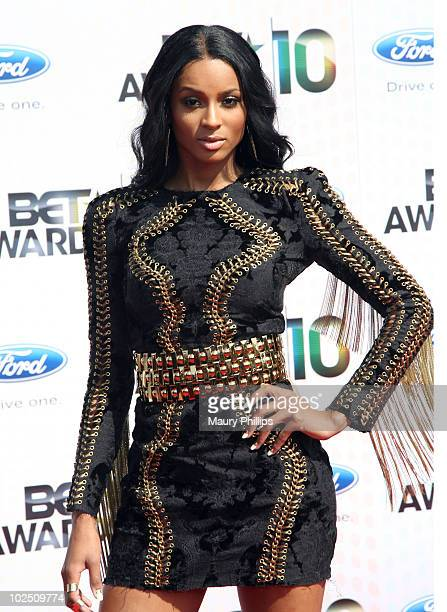 Singer Ciara arrives at the BET Awards '10 on June 27 2010 in Los Angeles California