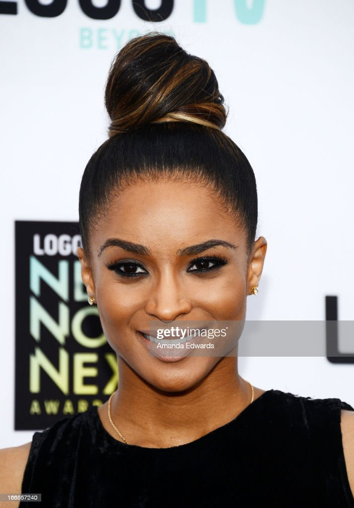 Singer <a gi-track='captionPersonalityLinkClicked' href=/galleries/search?phrase=Ciara+-+Singer&family=editorial&specificpeople=11647122 ng-click='$event.stopPropagation()'>Ciara</a> arrives at the Logo NewNowNext Awards 2013 at The Fonda Theatre on April 13, 2013 in Los Angeles, California.