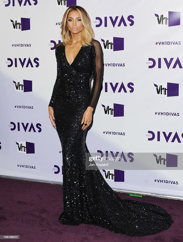 Singer <a gi-track='captionPersonalityLinkClicked' href=/galleries/search?phrase=Ciara+-+Cantante&family=editorial&specificpeople=11647122 ng-click='$event.stopPropagation()'>Ciara</a> arrives at the 'VH1 Divas' 2012 at The Shrine Auditorium on December 16, 2012 in Los Angeles, California.