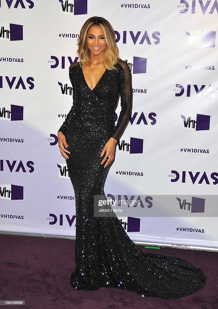 Singer <a gi-track='captionPersonalityLinkClicked' href=/galleries/search?phrase=Ciara+-+Singer&family=editorial&specificpeople=11647122 ng-click='$event.stopPropagation()'>Ciara</a> arrives at 'VH1 Divas' 2012 held at The Shrine Auditorium on December 16, 2012 in Los Angeles, California.